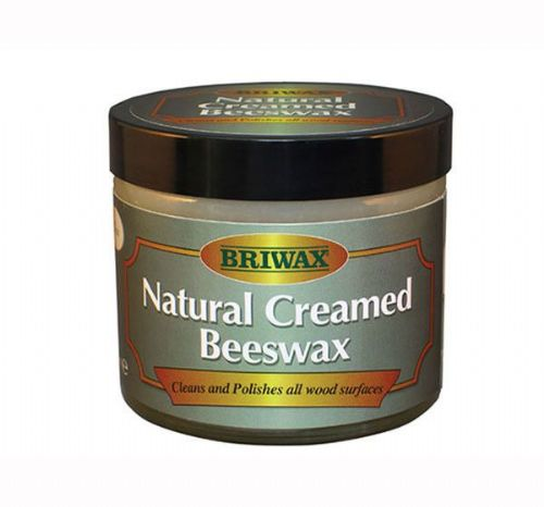 Briwax Natural Creamed Beeswax Clear 250ml jar Cleans & polishes all woods